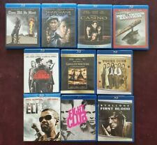 10 Blu-ray Movie Lot Bundle: There Will Be Blood, Fight Club, Casino & More