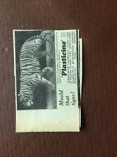 K1m Ephemera 1950s Advert Plasticene Mould That Tiger