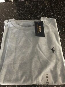 Ralph Lauren Pale Blue Long Sleeved T Shirt New With Tags Aged 8