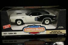 1/18 ERTL 1971 Plymouth Cuda Millenium Cuda Convertible white w/black top 1/2000