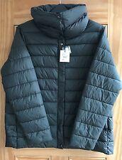 Debenhams New Ladies Dark Grey Padded Puffa Jacket Coat Size 18 20 Down Mix
