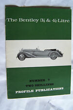 bentley 3 1/2  4 1/4 liter profile publications brochure history