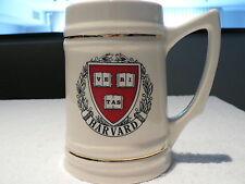 Harvard University Ceramic Tankard/ Stein Gold Trim Cup