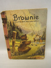 """Brownie"" by Gladys & Corinne Malvern 1939 McLoughlin Bros Springfield Mass FS"