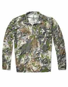 SKRE Camo Kaibab 150 Merino Wool 1/4 Zip Long Sleeve Shirt - Summit