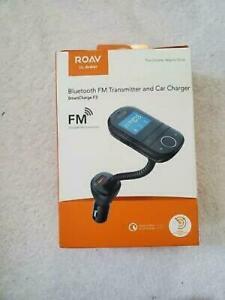 Anker ROAV SmartCharge F3 Gooseneck Bluetooth Wireless FM Transmitter Car Kit -