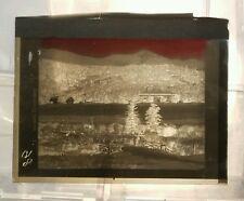 Vintage GLASS NEGATIVE SLIDE Shawnee Lodge Batte Canon (Battle Canyon?)