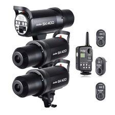 3X Godox SK400 400Ws Photography Studio Strobe Flash + FT-16 Trigger Kit