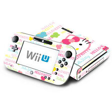 Skin Decal Cover for Nintendo Wii U Console & GamePad - Cute Kitty Butterfly