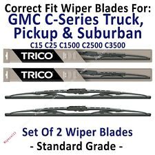 Wiper Blades 2-Pack Standard - fit 1973-1978 GMC C35 C3500 Pickup - 30160x2