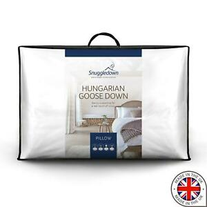 Snuggledown Hungarian Goose Down Soft Support Front Sleeper Pillow, Pack of 1