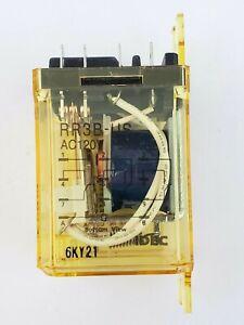 Idec RR3B-USAC120V Ice Cube Relay RR3B 120V AC 3PDT 10 Amp