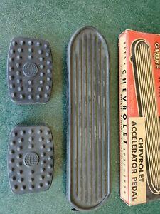 Vintage 1936 1937 1938 1939 CHEVROLET GAS & CLUTCH BRAKE PADS RAT ROD NEW