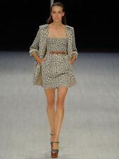MATTHEW WILLIAMSON brocade animal print bustier SS11 runway short mini dress XS