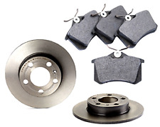Rear Pads and Brake Disc Compatible For Audi TT Roadster 8N9 1.8 T 1999-06 Solid