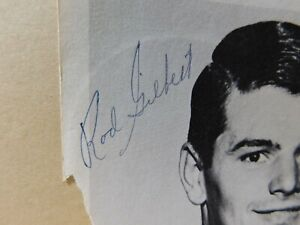 ROD GILBERT NEW YORK RANGERS Signed 5x7 Photo- LARGE AUTOGRAPH AUCTION 1960's