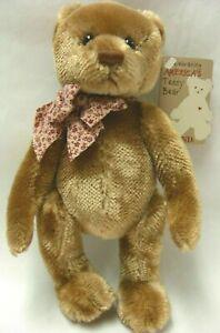 "NEW/NWT Gund Celebrating America's Teddy Bear-Bradley-Lt Brown 9"" Fully Jointed"