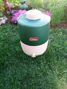 Vintage Coleman Green Classic 3 Gallon Water Cooler