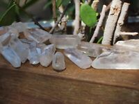 5 x Polished Clear Quartz Crystal Points & Pieces  35mm-40mm (medium size)