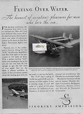 SIKORSKY AIRCRAFT S-38 AMPHIBIAN KEENEST PLEASURES FOR MEN WHO LOVE THE SEA AD