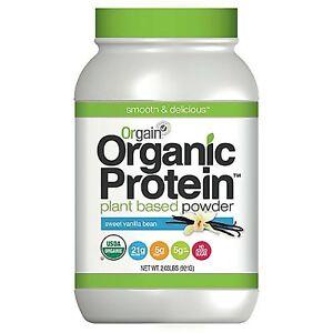 """Orgain Organic Protein Plant-Based Powder, Vanilla Bean, 2.03 Pound"""