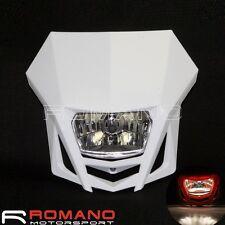 Supermoto Bike Headlight Lamp Fairing White For HONDA SUZUKI YAMAHA Dirt Bike