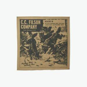 CC FILSON Wolfpack Bandana Made in USA 100% cotton handkerchief NEW