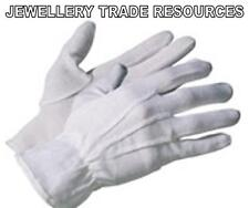 JEWELLERS JEWELLERY & WATCH HANDLEING WHITE COTTON SOFT GLOVES WITH MICRO DOTS