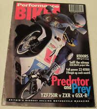 Performance Bikes 4/93 Ducati 900SL, BMW R1100RS. Yamaha YZF750R, ZZ-R1100