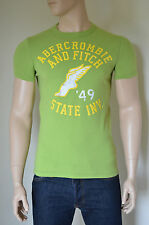 NUOVO ABERCROMBIE & FITCH pagliaio Mountain Verde'49 Track & Field t-shirt S