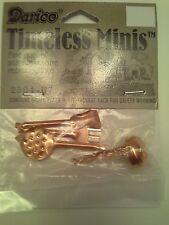 Dollhouse Miniature Copper Utensils Kitchen Minis Miniatures 5 Pieces NEW