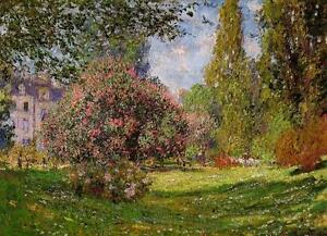 Claude Monet The Park at Monceau Fine Art Giclee Canvas Print