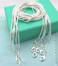 "Wholesale 5pcs 2mm 16""-24"" 925 sterling solid silver snake chains necklace C010"