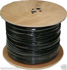 Black 1000Ft RG59+DC Copper Siamese Cable CCTV Video Power Pull box