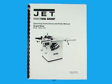Jet   JWSS-10CS  Table Saw Owners  Manual *177