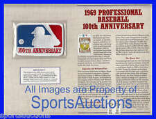 1969 PROFESSIONAL BASEBALL 100th ANNIVERSARY ~ COOPERSTOWN COLLECTION MLB PATCH