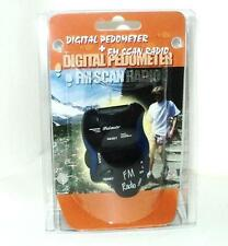 DIGITAL PEDOMETER WITH FM SCAN RADIO & LED TORCH BLUE