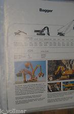 ✪Prospekt INFO/HEFT BLATT Hydraulik Broschüre Demag BAGGER UND WALZEN