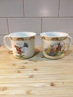 2 Royal Doulton Bunnykins Mug Cups Windy Etc Children nursery