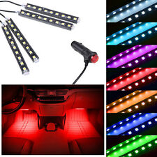 Red LED Car Interior Accessories Floor Decora Atmosphere Strip Lamp Lights 4x