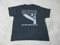 Led Zeppelin Concert Shirt Adult Extra Large Black White North American Tour *