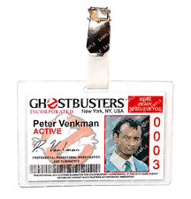 Ghostbusters Peter Venkman ID Badge Proton Pack Cosplay Prop Costume Halloween