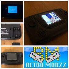 > Sega Game Gear Black Console Backlight LCD screen Glass Lens FULLY RECAPPED <