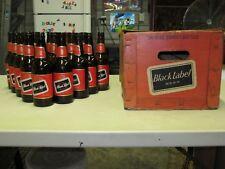 Vintage CARLING BLACK LABEL LAGER BEER Includes 18-16 oz. Bottles & Packing Case
