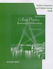 College Physics Student Companion and Problem Solving Guide 2nd Ed Vol 1