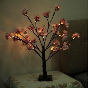 24 LED Kirschblütenbaum Weihnachten Kirschbaum Lichterbaum Sakura Blütenbaum✿