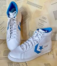 Converse Hi Top Leather Sneaker Boots  Leather Dr. J White Blue 10 M 11.5 W NEW