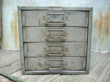 Vintage Industrial 4 Drawer Metal Parts Cabinet Organizer 10
