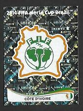 PANINI STICKER FIFA- WORLD CUP 2014 -No 222- COTE D'IVOIRE - IVORY COAST -  FOIL