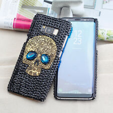 Galaxy S8 Plus Case Skull Handmade Bling Crystal Glitter Diamond Cover